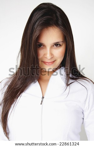 Portrait of attractive business woman.