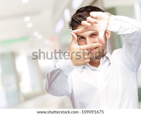Portrait Of Attractive Businessman, Indoor - stock photo