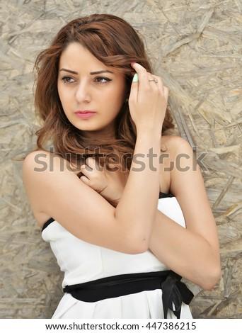 Portrait Of Attractive Hispanic Woman - stock photo