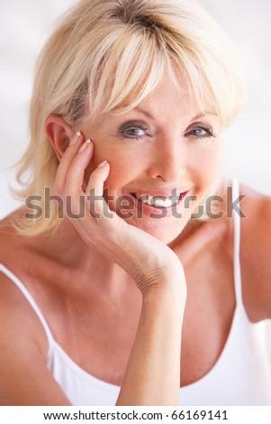 Portrait Of Attractive Senior Woman - stock photo
