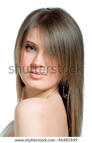 Portrait of attractive sexy young woman - stock photo