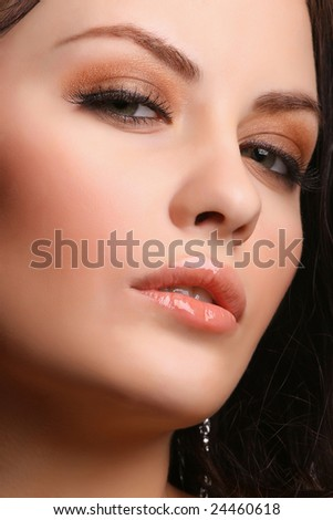 portrait of attractive young adult looking at camera - stock photo
