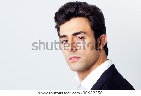 Portrait of attractive young man - stock photo