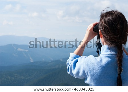 portrait of attractive young woman. outdoor shot