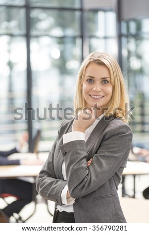 Portrait of attrative business woman at the office
