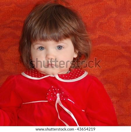 Portrait of baby - stock photo