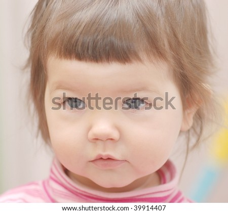 Portrait of baby girl - stock photo