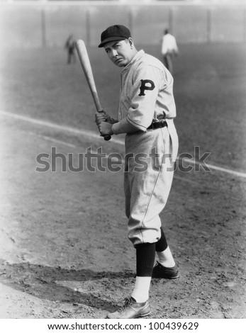 Portrait of batter - stock photo