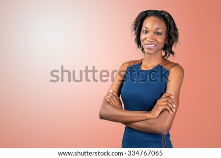 Portrait of beautiful African American businesswoman
