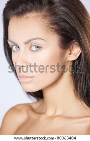 Portrait of beautiful and sexy fashion woman - stock photo