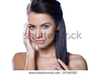 Portrait of beautiful and sexy young woman - stock photo
