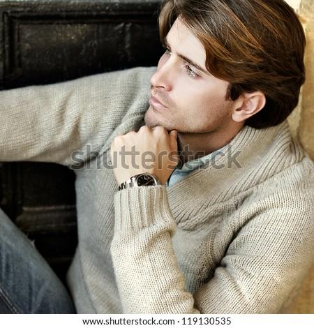 portrait of beautiful elegant man