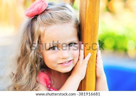 portrait of beautiful fashion girl - stock photo