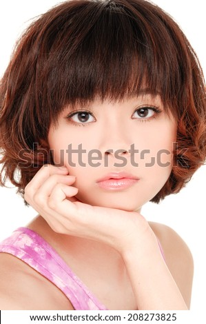 portrait of beautiful, fresh, healthy and sexy girl - stock photo