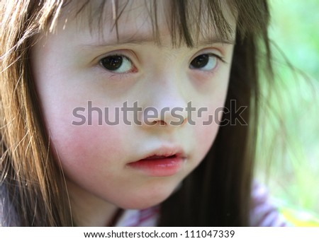 Portrait of beautiful girl. - stock photo