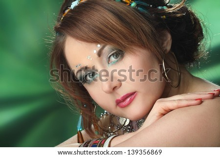 portrait of beautiful girl with make-up