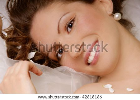 Portrait of beautiful happy smiling young woman