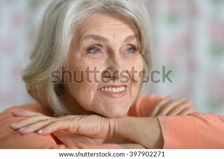 Portrait of beautiful old woman