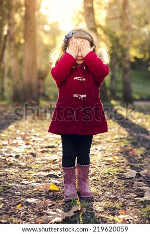 Portrait of beautiful pretty girl with eyes closed - stock photo
