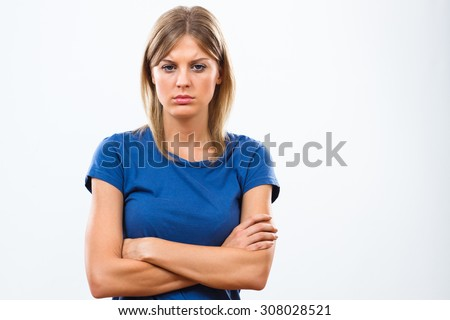 Portrait of beautiful sad woman.Sad woman - stock photo