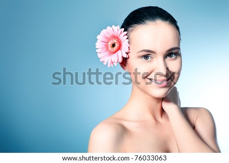 Portrait of beautiful spa girl. - stock photo