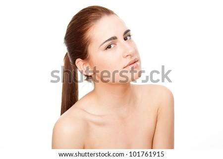 Portrait of beautiful woman - Beauty Care