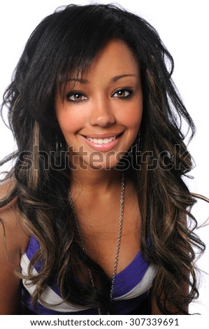 Portrait of beautiful young African American businesswoman smiling