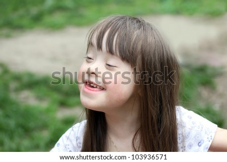 Portrait of beautiful young girl. - stock photo