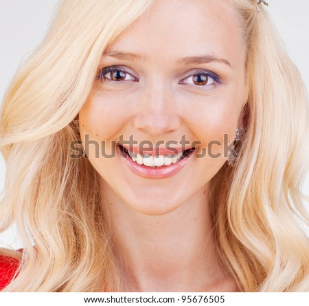 Portrait of beautiful young girl - stock photo