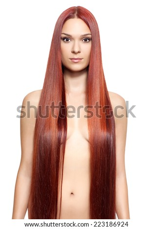 Very long hair woman nude