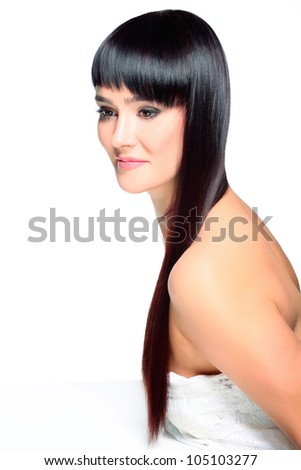Portrait of beautiful young woman with luxuriant healthy long hair.High quality image.