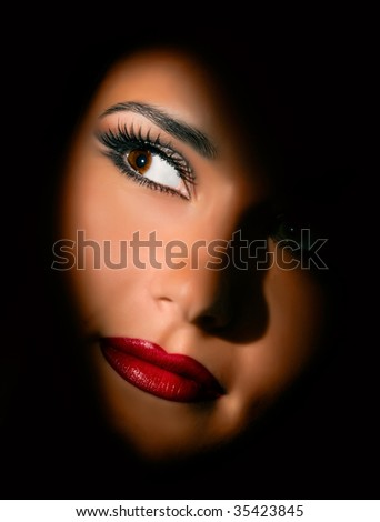 portrait of beautiful young women - stock photo