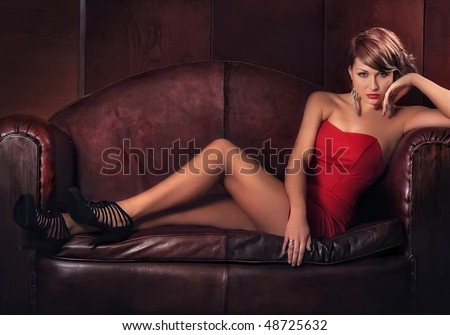 Portrait of beautiful young women - stock photo