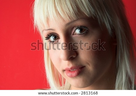 Portrait of beauty blond girl.