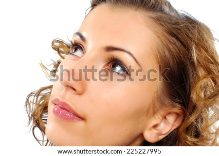 Portrait of beauty model with healthy skin