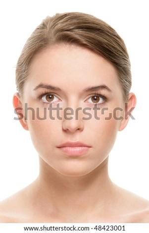 Portrait of beauty teenage girl - stock photo