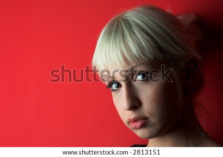 Portrait of blond girl.