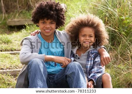 Portrait of boys - stock photo