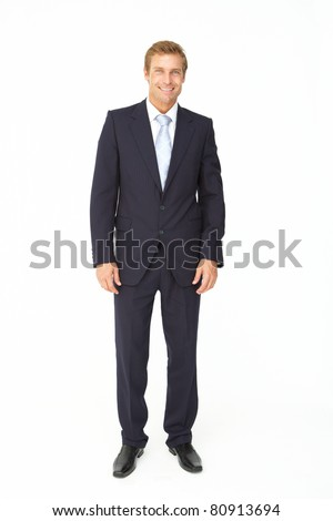 Portrait of business man in suit