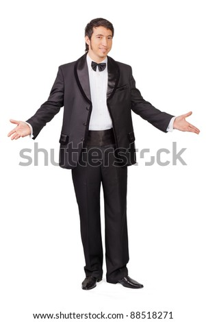 Portrait of business man in suit - stock photo