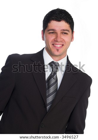 Portrait of business_Man on white background