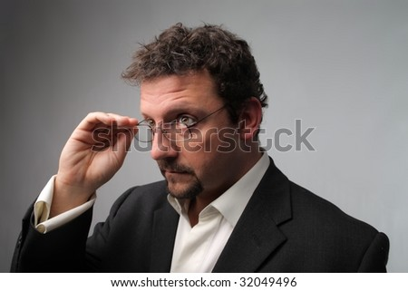 portrait of business man with glasses