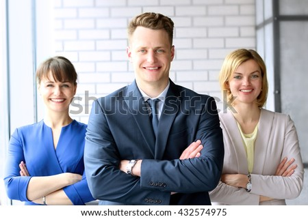Portrait Of Business Team / people standing in the  Office - stock photo