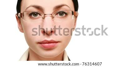 portrait of business woman - stock photo