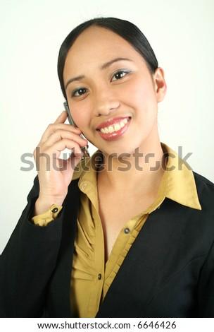Portrait of businesswoman - stock photo