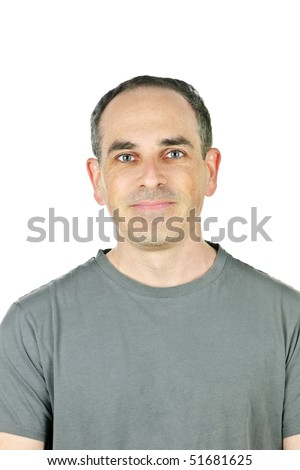 Portrait of casual smiling man in t-shirt