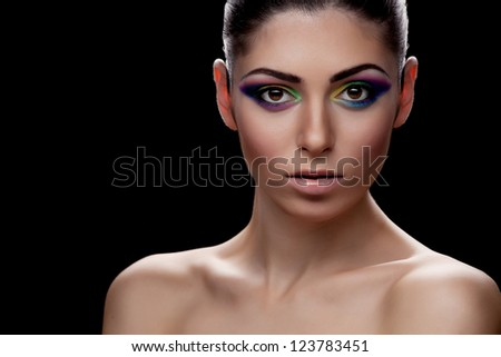 Portrait of caucasian young woman - stock photo