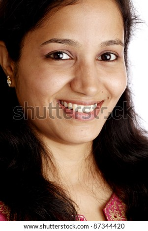 Portrait of cheerful Indian woman