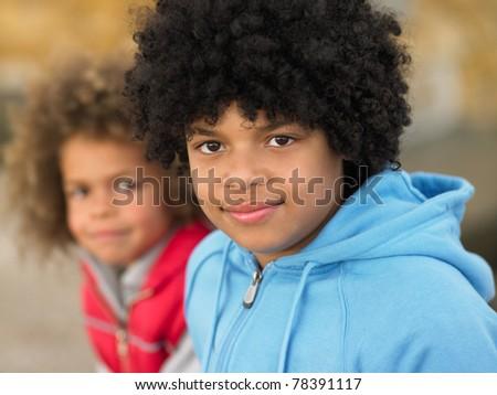 Portrait of children - stock photo