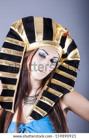 portrait of cleopatra - stock photo